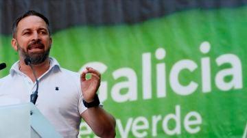 Santiago Abascal, en un mitin en Lugo