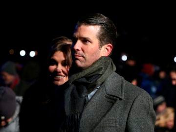 Donald Trump Jr. y su novia Kimberly Guilfoyle