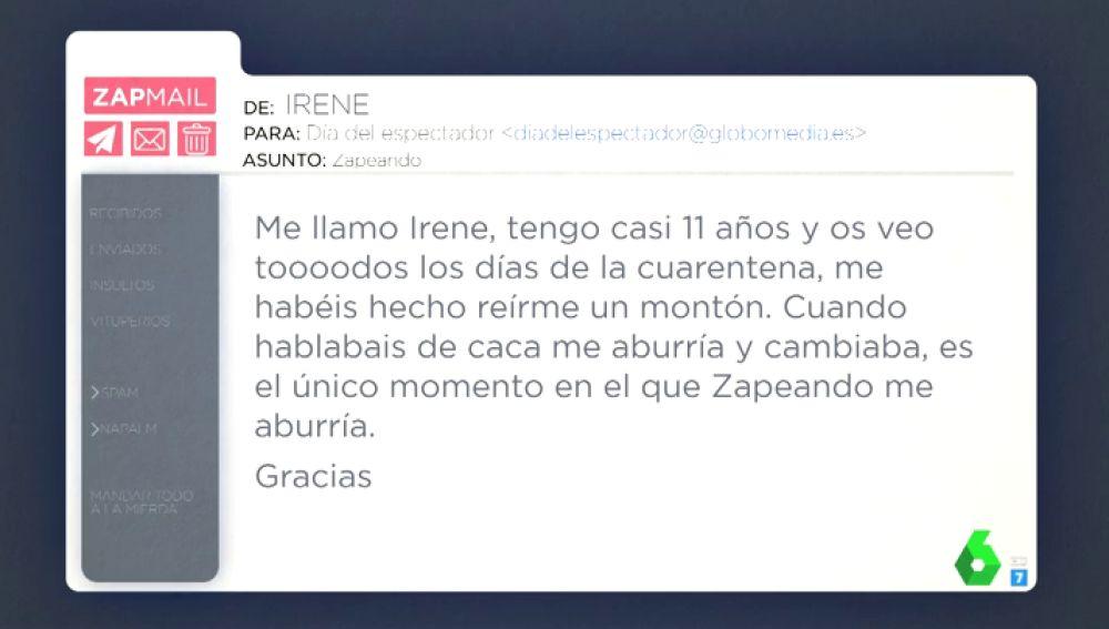 """El tierno mensaje de una niña de 11 años a Zapeando: """"Me hacéis reír, pero cuando habláis de caca me aburro y cambio"""""""