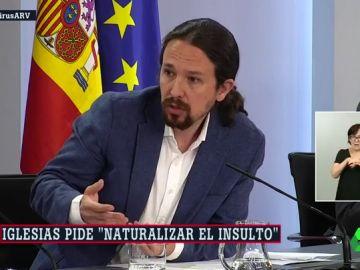 """Iglesias cree que hay que """"naturalizar"""" que los periodistas estén sometidos a la crítica y los insultos"""
