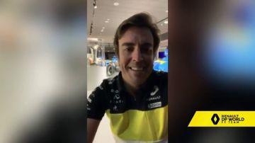 """Primeras palabras de Fernando Alonso como piloto de Renault: """"Me dan la opción de volver al más alto nivel"""""""