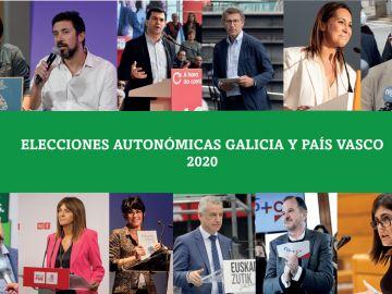 ¿Dónde votan los candidatos de las elecciones vascas y gallegas?
