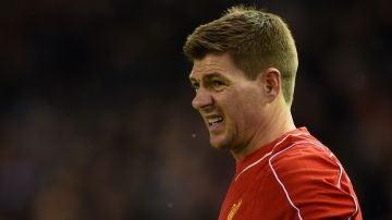 Steven Gerrard, con el Liverpool