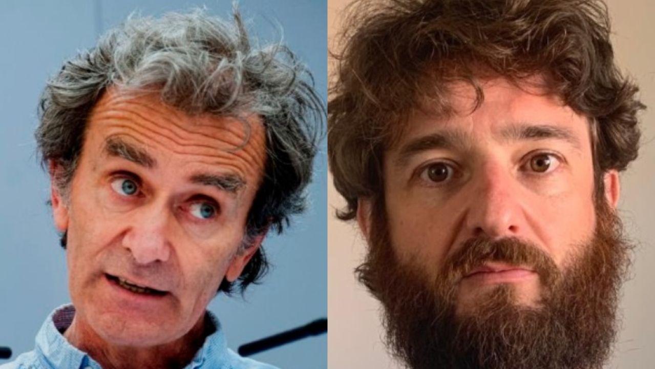 El actor Gorka Otxoa y el epidemiólogo Fernando Simón en imágenes de archivo