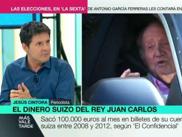 """Jesús Cintora, sobre las cuentas de Juan Carlos I: """"Algunos amaban mucho a España, pero el sexo lo tenían con Suiza"""""""
