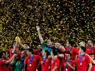 España, con la copa del mundo