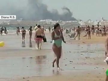 Cadiz registra un incendio sin víctimas ni heridos en la zona de Santa Bárbara