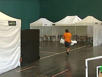 Imagen de un local electoral en Euskadi