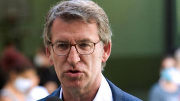El actual presidente de la Xunta, Alberto Núñez Feijoó en las elecciones gallegas 2020