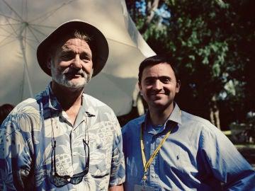 El periodista Tonia Garcia Ramon con el actor Bill Murray