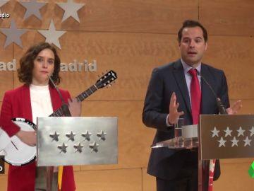 Vídeo de manipulado - Ayuso boicotea a Aguado en plena rueda de prensa
