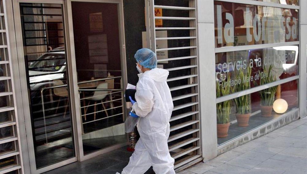 Una sanitaria en L'Hospitalet (Barcelona)