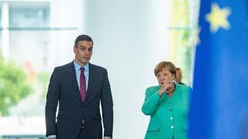 Pedro Sánchez y Angela Merkel, en un encuentro en Bruselas