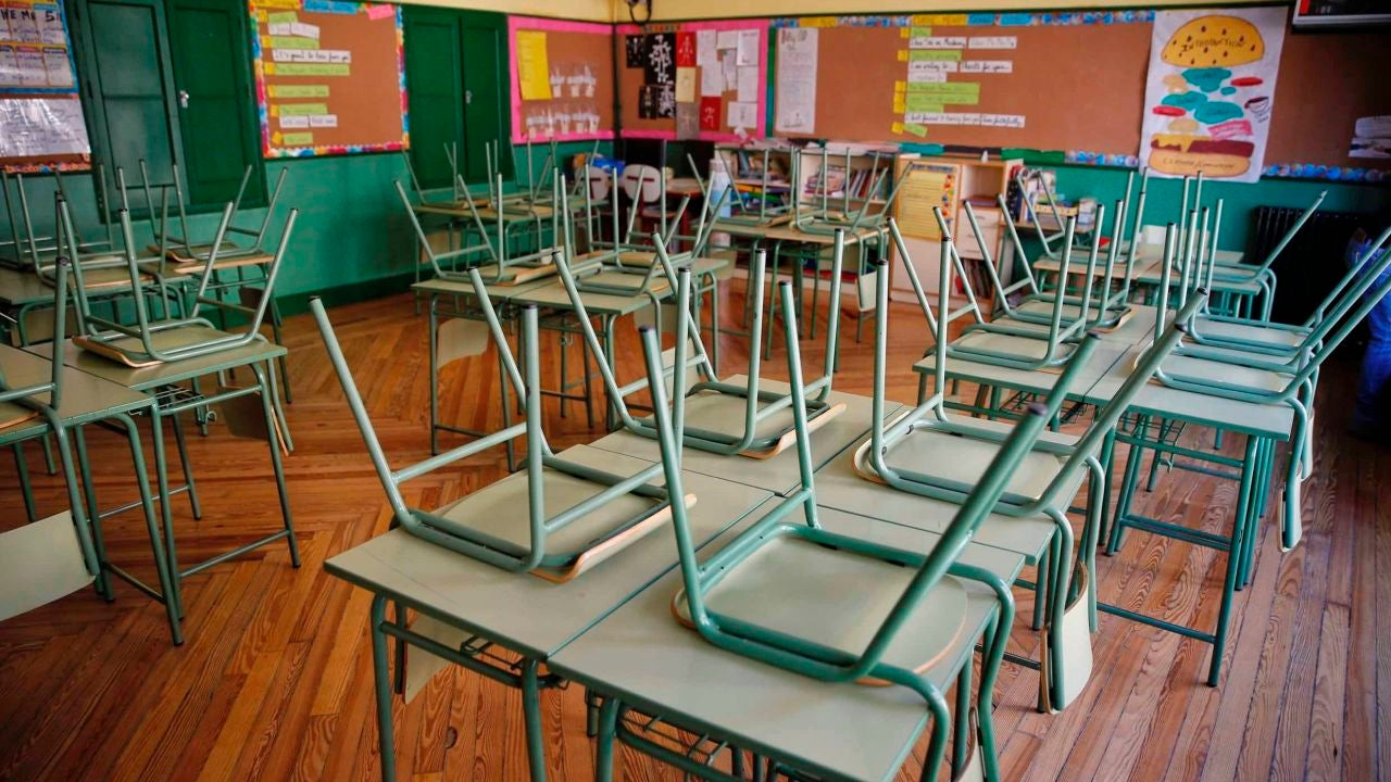 Un aula vacía en un centro educativo
