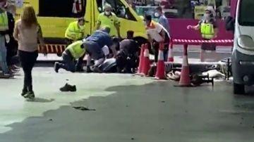 Dos heridos graves por una fuerte explosión en una gasolinera de Cartagena