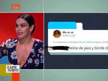 """La respuesta de Cristina Pedroche después de que un espectador la llame """"borde de España"""""""