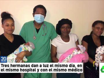 Tres hermanas dan a luz el mismo día, en el mismo hospital y con el mismo médico