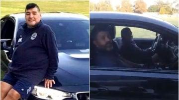 Diego Armando Maradona y su nuevo coche