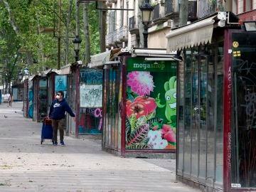 Floristerías en la Rambla de Barcelona