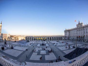 Vista general del Patio de la Armería del Palacio Real.