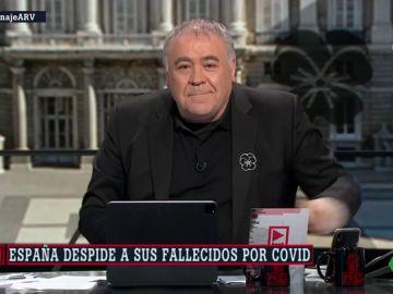 Antonio García Ferreras en el especial 'Homenaje a las víctimas'