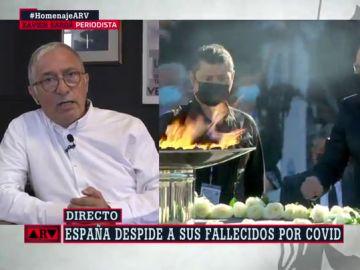 Xavier Sardá en un momento de la entrevista en Al Rojo VIvo