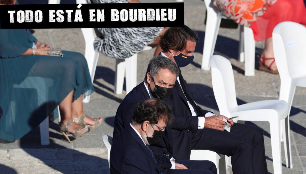 José María Aznar (d), José Luis Rodríguez Zapatero(2d) y Mariano Rajoy (3d), durante el homenaje de Estado a las víctimas de la pandemia de coronavirus
