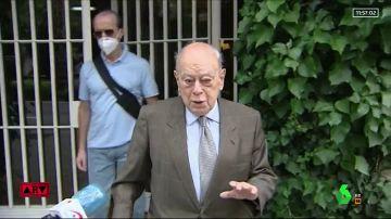 """Primeras imágenes de Jordi Pujol sin mascarilla tras la petición del juez de sentar en el banquillo al clan por """"organización criminal"""""""