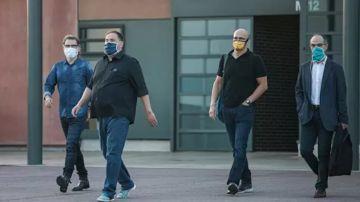 Jordi Cuixat, Oriol Junqueras, Raül Romeva y Jordi Turull salen de prisión