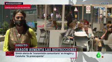 La consejera de Sanidad de Aragón, Sira Repollés.