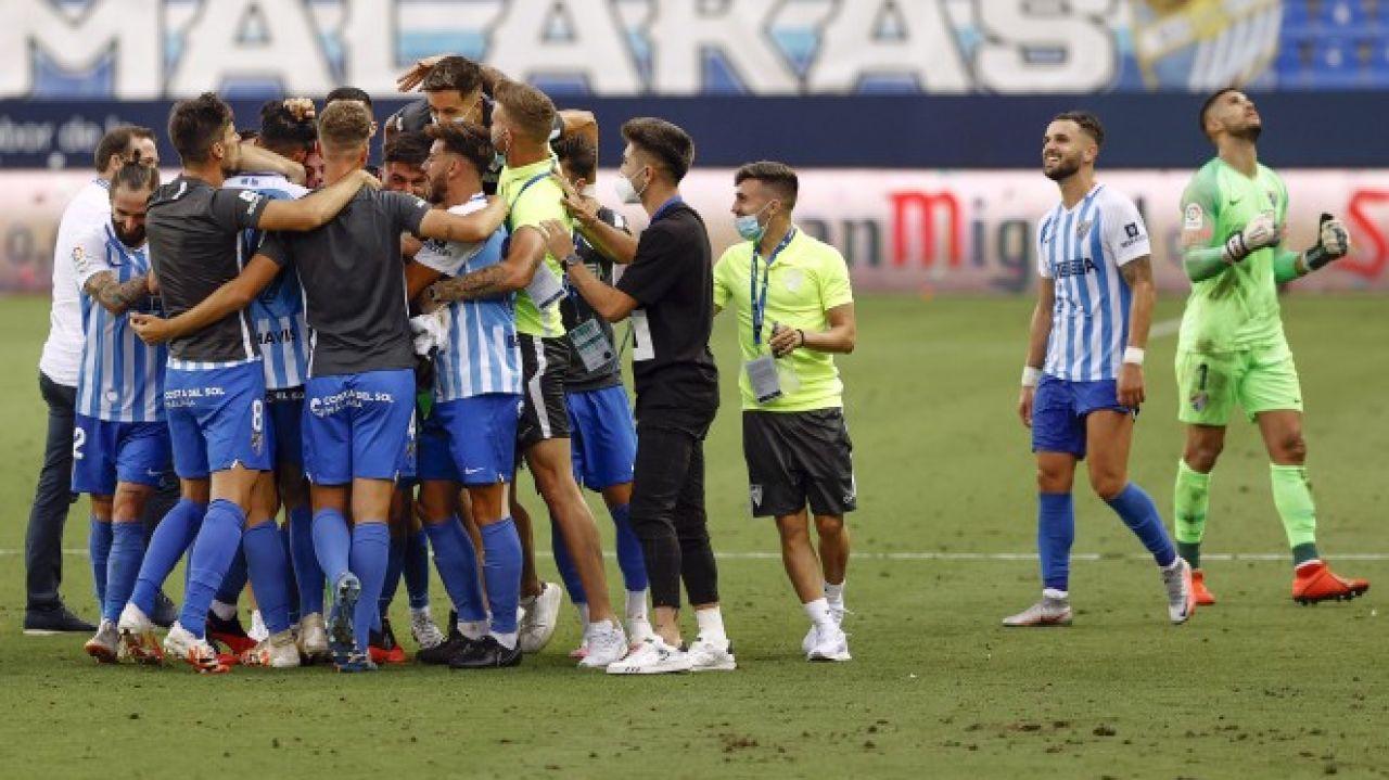 El Málaga sella la permanencia en La Rosaleda