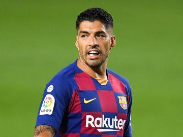 Luis Suárez, con el Barcelona