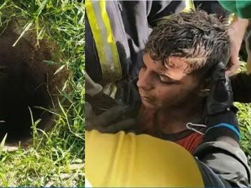 Imagen del niño rescatado de un pozo en La Habana
