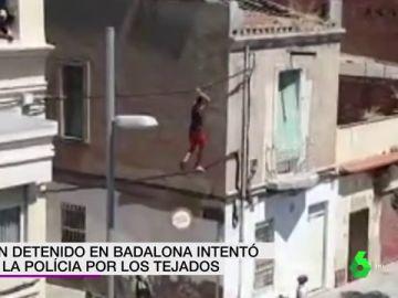 El vídeo en el que la Guardia Urbana detiene a un okupa mientras intenta huir por cables de alta tensión