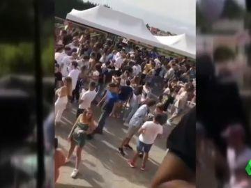 Una fiesta al aire libre en Tenerife