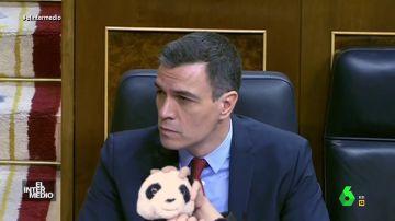 Vídeo manipulado - Pedro Sánchez estrangula a un osito de peluche mientras habla Pablo Casado