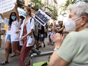 Marcha de los MIR de Madrid