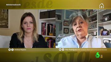 Andrea Ropero entrevistó en El Intermedio a Pilar Rodríguez,