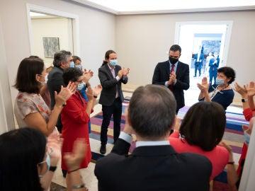 Los miembros del Gobierno felicitan a Sánchez por el acuerdo alcanzado