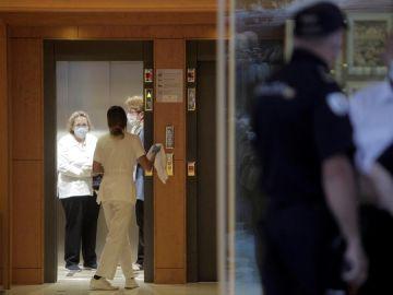 Hotel donde permanecen aislados los jugadores del Fuenlabrada en A Coruña
