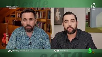 Dani Mateo 'entrevistó por la cara' a Abascal, interpretado por Wyoming