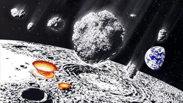Bombardeo de meteoritos en la Luna
