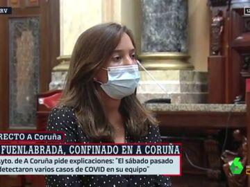 """La alcaldesa de A Coruña, indignada por el brote de Covid del Fuenlabrada: """"¿Acaso los futbolistas no contagian?"""