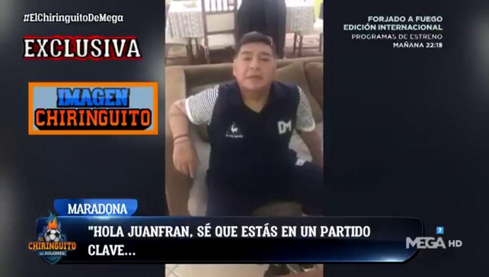 Exclusiva 'El Chiringuito': El vídeo de Maradona que motivó al Lugo para conseguir la permanencia