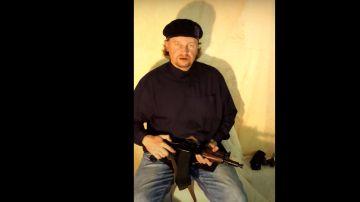 Captura del vídeo del vídeo del presunto secuestrador de un autobús en Ucrania