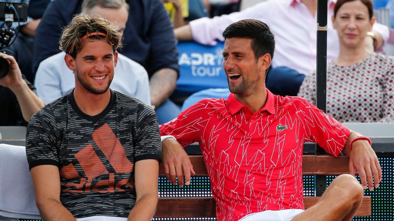 Thiem y Djokovic