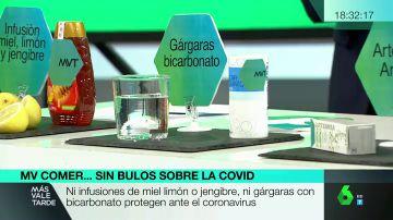 Bulos en redes sobre supuestos 'remedios caseros para curar el COVID-19'