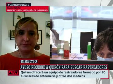 La presidenta de la Asociación Madrileña de Enfermería, Alda Recas