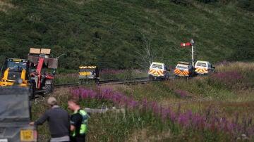 Imagen del accidente de tren en Escocia