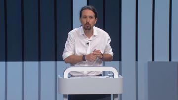 Pablo Iglesias en el debate electoral de 2016